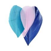 Перья декоративные, синий, розовый 5-6 см