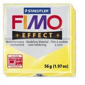 Полимерная глина, запекаемая в печке, полупрозрачный жёлтый, FIMO Effect Transparent Yellow, 56 гр.