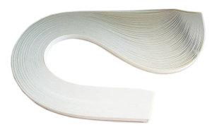Бумага для квиллинга, белый жемчужный, ширина 5 мм