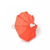 Зонт маленький  пластмассовый красный 16см