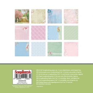 """Набор бумаги  """"Старинная усадьба"""", 12 листов, 15*15 см 190 гр/м"""