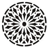 Трафарет 22х22см круглый  ''Солнце''