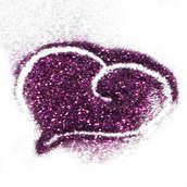 Блестки цветные металлик  25 гр.  Пурпурный