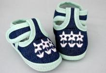 Ботиночки для кукол  95мм цв.св.зеленый