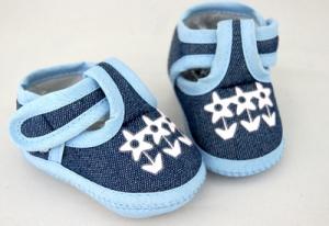 Ботиночки для кукол  95мм цв.голубой