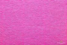 Бумага гофрированная Италия 50см х 2,5м 140г/м2 ярко-розовая