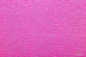 Бумага гофрированная Италия 50см х 2,5м 140г/м2 цв.951 ярко-розовая