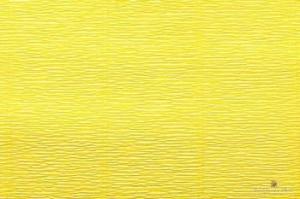 Бумага гофрированная Италия 50см х 2,5м 140г/м2 лимонно-желтая