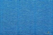 Бумага гофрированная Италия 50см х 2,5м 180г/м2 цв.557 васильковая