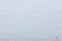 Бумага гофрированная Италия 50см х 2.5м 180г/м2  нежно-голубая