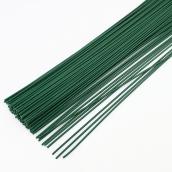 Флористическая проволока цв.зеленый  0,55 мм, 36 см уп.20шт