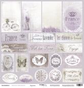 """Бумага односторонняя 30x30   """"French Provence""""  Карточки"""