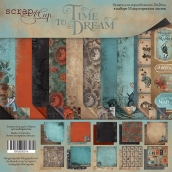 Набор двусторонней бумаги 20х20см  Time to Dream (eng.) 10шт