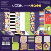 Набор двусторонней бумаги 30х30см  Ticket to the Moon 10шт