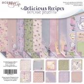 Набор двусторонней бумаги 20х20см  Delicious Recipes 10шт