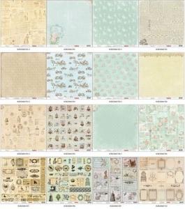 """Набор бумаги  """"Версаль"""" 10 листов, 30,5х30,5 см 180 гр/м"""