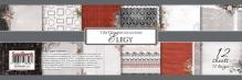"Набор бумаги  односторон ""Элегия"", 12 листов 30,5х30,5 см 190 гр/м"
