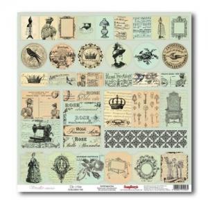 """Бумага  """"Версаль"""" карточки Монетный двор,  30,5х30,5 см 180 гр/м"""