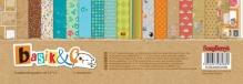 "Набор бумаги  двусторон ""Басик"", 11 листов (8+3), 30,5х30,5 см 190 гр/м"