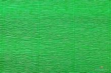 Бумага гофрированная Италия 50см х 2.5м 140г/м2  ярк.зеленая