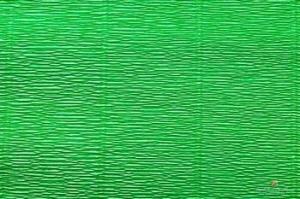 Бумага гофрированная Италия 50см х 2,5м 140г/м2  ярк.зеленая