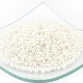 Бусины круглые перламутр  4мм   белый уп.50гр (1800шт)