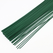 Флористическая проволока цв.зеленый  0,37 мм, 36 см уп.20шт