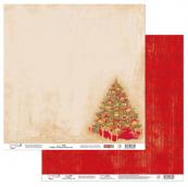 """Бумага двусторон. """"Старый Новый год"""" 2 """"Mr.Painter""""190 г/кв.м 30.5 x 30.5 см"""