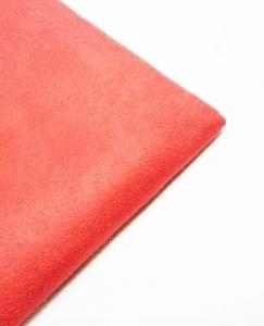 Искусственная замша  CUDDLE SUEDE scarlet (красный) 35х50 см 230±5 г/кв.м 100% полиэстер