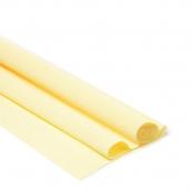 Бумага гофрированная Италия 50см х 2,5м 180г/м2 лимонно-кремовая