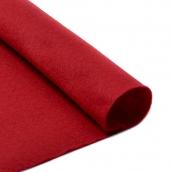 Фетр листовой мягкий  1мм 20х30см т.красный 1шт