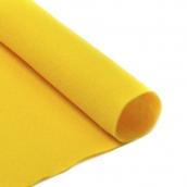 Фетр листовой мягкий 1мм 20х30см  желтый 1шт