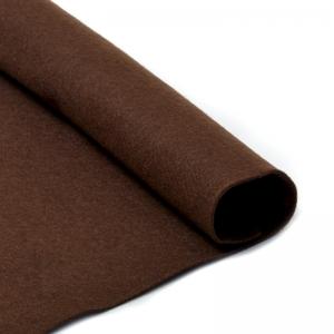 Фетр листовой мягкий  1мм 20х30см  т.коричневый 1шт