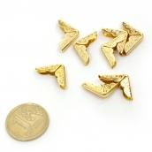 Декоративный уголок-скоба для шкатулок уп.8 шт золото