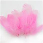 Перья Розовые 12 см, 20 шт.