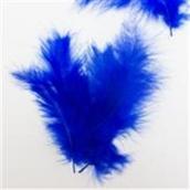 Перья Синие 12 см, 20 шт.