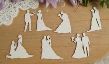 Свадебные фигурки2  высота до 3,7 см длина до 3,7 см