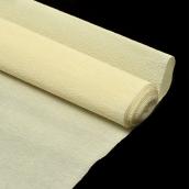 Бумага гофрированная Италия 50см х 2,5м 140г/м2  слоновая кость