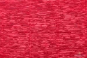 Бумага гофрированная 50см х 2,5м 140г/м2 св.красный