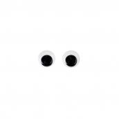 Глаза бегающие клеевые 8мм цв.черный  1шт