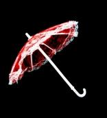 Зонт большой  26см гипюр цв.красный
