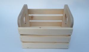 Реечный ящик малый с сердечком 13х13х8 Толщина стенок - 15 мм. Сосна