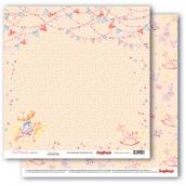 Лист бумаги для скрапбукинга 30,5х30,5 см 190 гр/м, Маленькая принцесса 302