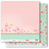 Лист бумаги для скрапбукинга 30,5х30,5 см 190 гр/м, Маленькая принцесса 301