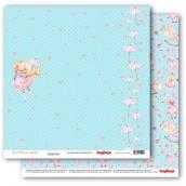 Лист бумаги для скрапбукинга 30,5х30,5 см 190 гр/м, Маленькая принцесса 305