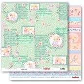 Лист бумаги для скрапбукинга 30,5х30,5 см 190 гр/м, Маленькая принцесса 306