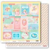 Лист бумаги для скрапбукинга 30,5х30,5 см 190 гр/м, Маленькая принцесса 309