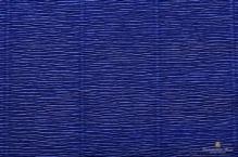 Бумага гофрированная Италия 50см х 2,5м 140г/м2  темно-синяя