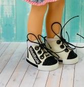 Кеды для куклы на шнуровке 5.5 см
