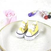 Кеды для кукол  на шнурках 5см желт.